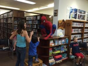 Only room for one Superhero on the bookshelf, big guy!